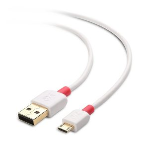 Cable Matters 2-Pack, Gold Plated Hi-Speed USB 2.0 Type A to Micro-B Cable in White 6 Feet